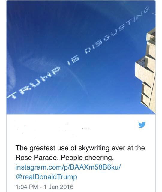 Trump is disgusting skywriting_n